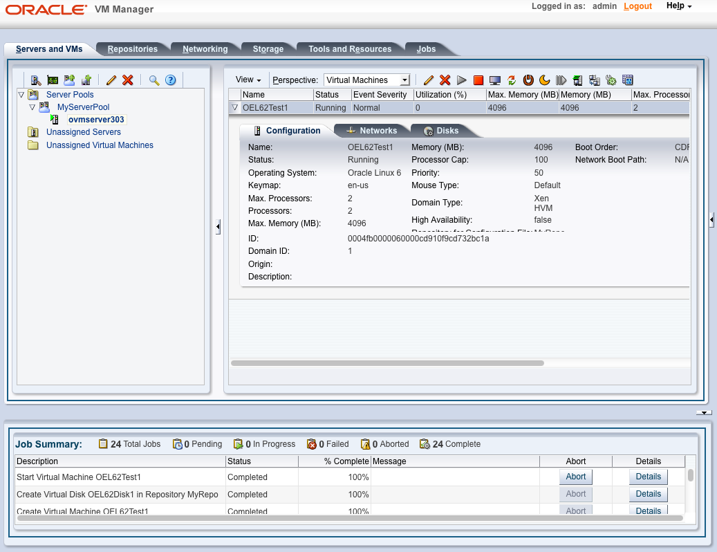 Oracle VM Manager 3