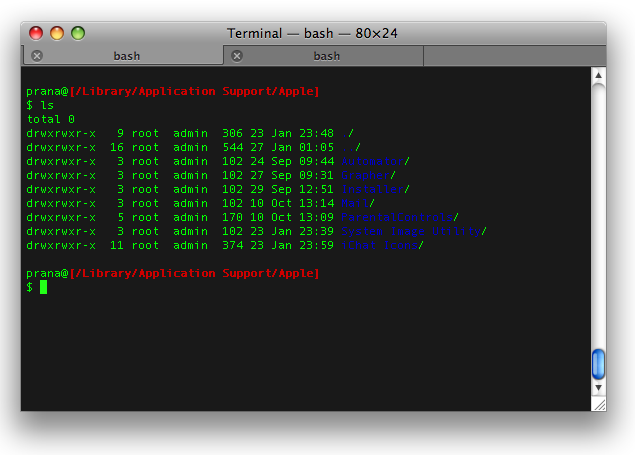 OS X Terminal with a cool BASH prompt